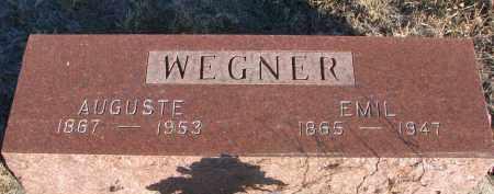 WEGNER, AUGUSTE - Stanton County, Nebraska | AUGUSTE WEGNER - Nebraska Gravestone Photos
