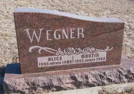 WEGNER, ALICE - Stanton County, Nebraska | ALICE WEGNER - Nebraska Gravestone Photos