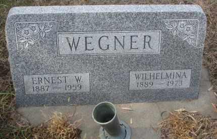 WEGNER, ERNEST W. - Stanton County, Nebraska | ERNEST W. WEGNER - Nebraska Gravestone Photos