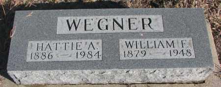 WEGNER, WILLIAM F. - Stanton County, Nebraska   WILLIAM F. WEGNER - Nebraska Gravestone Photos
