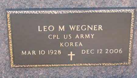 WEGNER, LEO M. (MILITARY) - Stanton County, Nebraska   LEO M. (MILITARY) WEGNER - Nebraska Gravestone Photos
