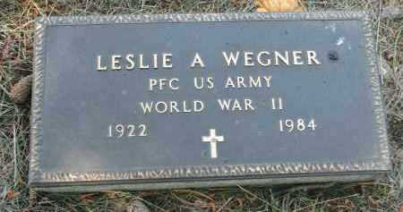 WEGNER, LESLIE A. (WW II) - Stanton County, Nebraska | LESLIE A. (WW II) WEGNER - Nebraska Gravestone Photos