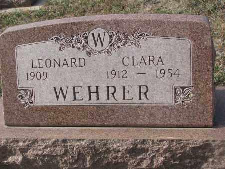 WEHRER, CLARA - Stanton County, Nebraska   CLARA WEHRER - Nebraska Gravestone Photos