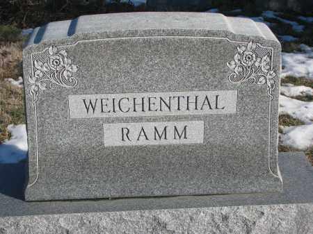 WEICHENTHAL-RAMM, PLOT STONE - Stanton County, Nebraska   PLOT STONE WEICHENTHAL-RAMM - Nebraska Gravestone Photos