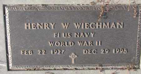 WIECHMAN, HENRY W. (WW II) - Stanton County, Nebraska   HENRY W. (WW II) WIECHMAN - Nebraska Gravestone Photos