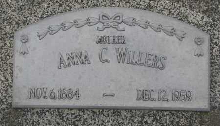 WILLERS, ANNA C. - Stanton County, Nebraska | ANNA C. WILLERS - Nebraska Gravestone Photos