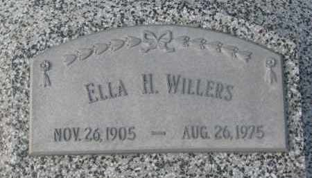 WILLERS, ELLA H. - Stanton County, Nebraska | ELLA H. WILLERS - Nebraska Gravestone Photos