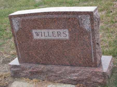 WILLERS, PLOT STONE - Stanton County, Nebraska | PLOT STONE WILLERS - Nebraska Gravestone Photos