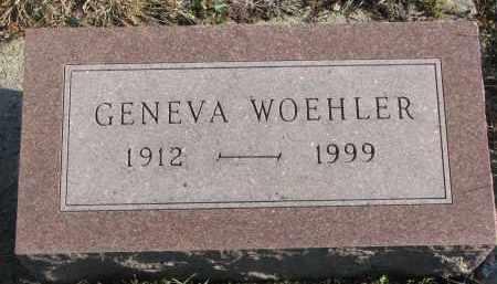 WOEHLER, GENEVA - Stanton County, Nebraska | GENEVA WOEHLER - Nebraska Gravestone Photos