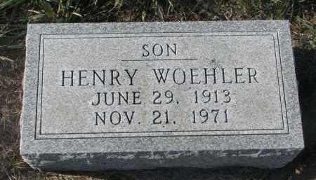WOEHLER, HENRY - Stanton County, Nebraska   HENRY WOEHLER - Nebraska Gravestone Photos
