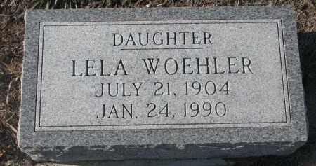 WOEHLER, LELA - Stanton County, Nebraska   LELA WOEHLER - Nebraska Gravestone Photos