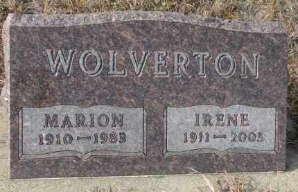 WOLVERTON, IRENE - Stanton County, Nebraska   IRENE WOLVERTON - Nebraska Gravestone Photos