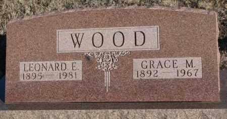 WOOD, LEONARD E. - Stanton County, Nebraska | LEONARD E. WOOD - Nebraska Gravestone Photos