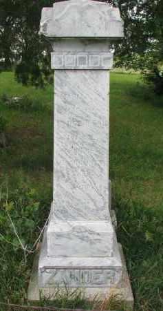 ZANDER, IDA A.L. - Stanton County, Nebraska | IDA A.L. ZANDER - Nebraska Gravestone Photos