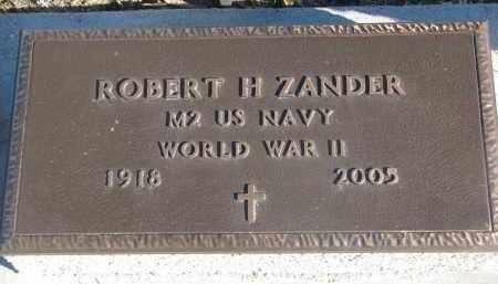 ZANDER, ROBERT H. - Stanton County, Nebraska | ROBERT H. ZANDER - Nebraska Gravestone Photos
