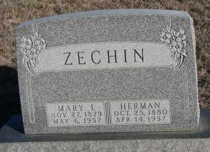 ZECHIN, MARY I. - Stanton County, Nebraska | MARY I. ZECHIN - Nebraska Gravestone Photos