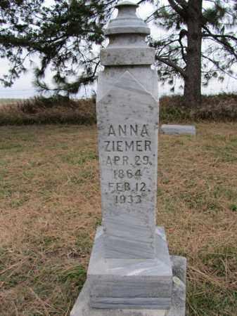 ZIEMER, ANNA - Stanton County, Nebraska | ANNA ZIEMER - Nebraska Gravestone Photos