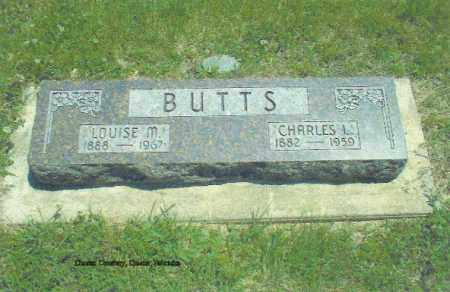 BUTTS, LOUISE - Thayer County, Nebraska | LOUISE BUTTS - Nebraska Gravestone Photos