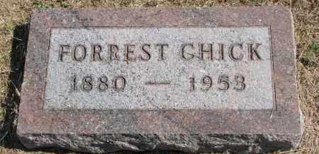 CHICK, FORREST - Thayer County, Nebraska | FORREST CHICK - Nebraska Gravestone Photos