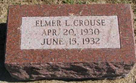 CROUSE, ELMER L. - Thayer County, Nebraska | ELMER L. CROUSE - Nebraska Gravestone Photos