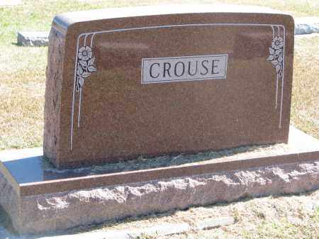 CROUSE, FAMILY STONE - Thayer County, Nebraska | FAMILY STONE CROUSE - Nebraska Gravestone Photos