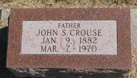 CROUSE, JOHN S. - Thayer County, Nebraska | JOHN S. CROUSE - Nebraska Gravestone Photos