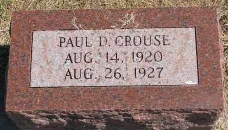 CROUSE, PAUL D. - Thayer County, Nebraska | PAUL D. CROUSE - Nebraska Gravestone Photos
