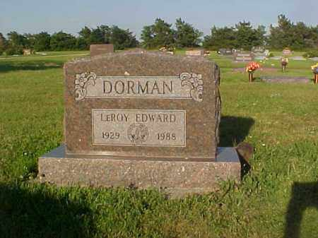 DORMAN, LEROY - Thayer County, Nebraska | LEROY DORMAN - Nebraska Gravestone Photos