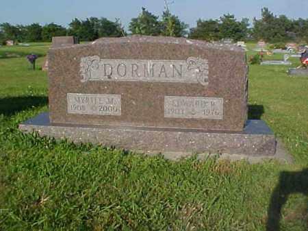 DORMAN, EDWARD - Thayer County, Nebraska | EDWARD DORMAN - Nebraska Gravestone Photos