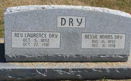 DRY, BESSIE - Thayer County, Nebraska | BESSIE DRY - Nebraska Gravestone Photos