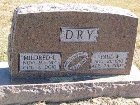 DRY, PAUL W. - Thayer County, Nebraska   PAUL W. DRY - Nebraska Gravestone Photos