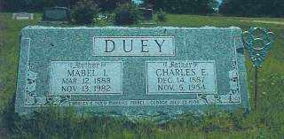 DUEY, MABEL - Thayer County, Nebraska | MABEL DUEY - Nebraska Gravestone Photos