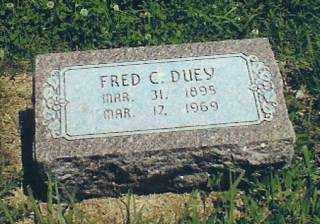 DUEY, FRED - Thayer County, Nebraska   FRED DUEY - Nebraska Gravestone Photos
