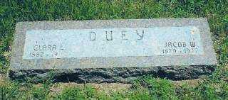 DUEY, CLARA - Thayer County, Nebraska   CLARA DUEY - Nebraska Gravestone Photos