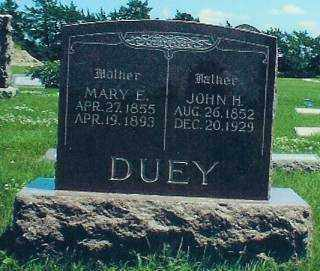 DUEY, JOHN - Thayer County, Nebraska | JOHN DUEY - Nebraska Gravestone Photos