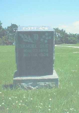 DUEY, SAMUEL - Thayer County, Nebraska | SAMUEL DUEY - Nebraska Gravestone Photos