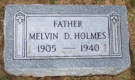 HOLMES, MELVIN D - Thayer County, Nebraska | MELVIN D HOLMES - Nebraska Gravestone Photos