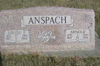 ANSPAH, ARNOLD - Thomas County, Nebraska   ARNOLD ANSPAH - Nebraska Gravestone Photos