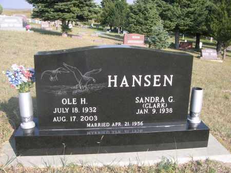 CLARK HANSEN, SANDRA G. - Thomas County, Nebraska | SANDRA G. CLARK HANSEN - Nebraska Gravestone Photos