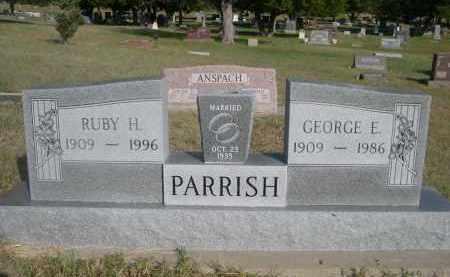PARISH, GEORGE E. - Thomas County, Nebraska | GEORGE E. PARISH - Nebraska Gravestone Photos
