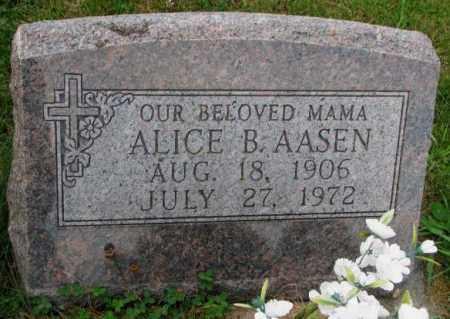 AASEN, ALICE B. - Thurston County, Nebraska | ALICE B. AASEN - Nebraska Gravestone Photos