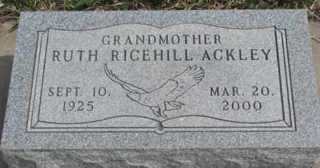 ACKLEY, RUTH - Thurston County, Nebraska   RUTH ACKLEY - Nebraska Gravestone Photos