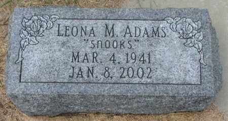 ADAMS, LEONA M. - Thurston County, Nebraska | LEONA M. ADAMS - Nebraska Gravestone Photos