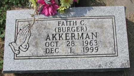 AKKERMAN, FAITH C. - Thurston County, Nebraska | FAITH C. AKKERMAN - Nebraska Gravestone Photos