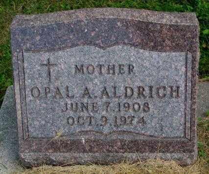 ALDRICH, OPAL A. - Thurston County, Nebraska | OPAL A. ALDRICH - Nebraska Gravestone Photos