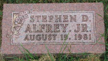 ALFREY, STEPHEN D. JR. - Thurston County, Nebraska | STEPHEN D. JR. ALFREY - Nebraska Gravestone Photos