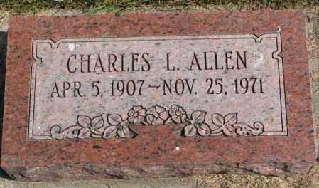 ALLEN, CHARLES L. - Thurston County, Nebraska | CHARLES L. ALLEN - Nebraska Gravestone Photos