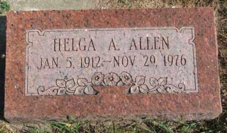 ALLEN, HELGA A. - Thurston County, Nebraska   HELGA A. ALLEN - Nebraska Gravestone Photos
