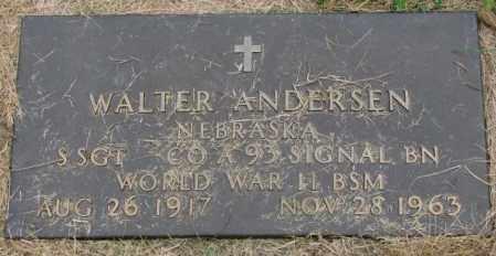 ANDERSEN, WALTER - Thurston County, Nebraska | WALTER ANDERSEN - Nebraska Gravestone Photos