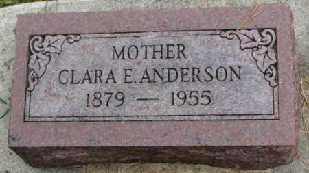 ANDERSON, CLARA E. - Thurston County, Nebraska | CLARA E. ANDERSON - Nebraska Gravestone Photos